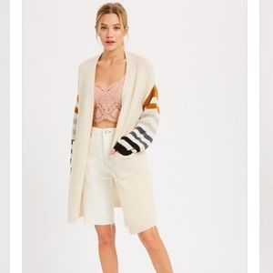WISHLIST Striped Sleeve Oversized Cardigan NWT